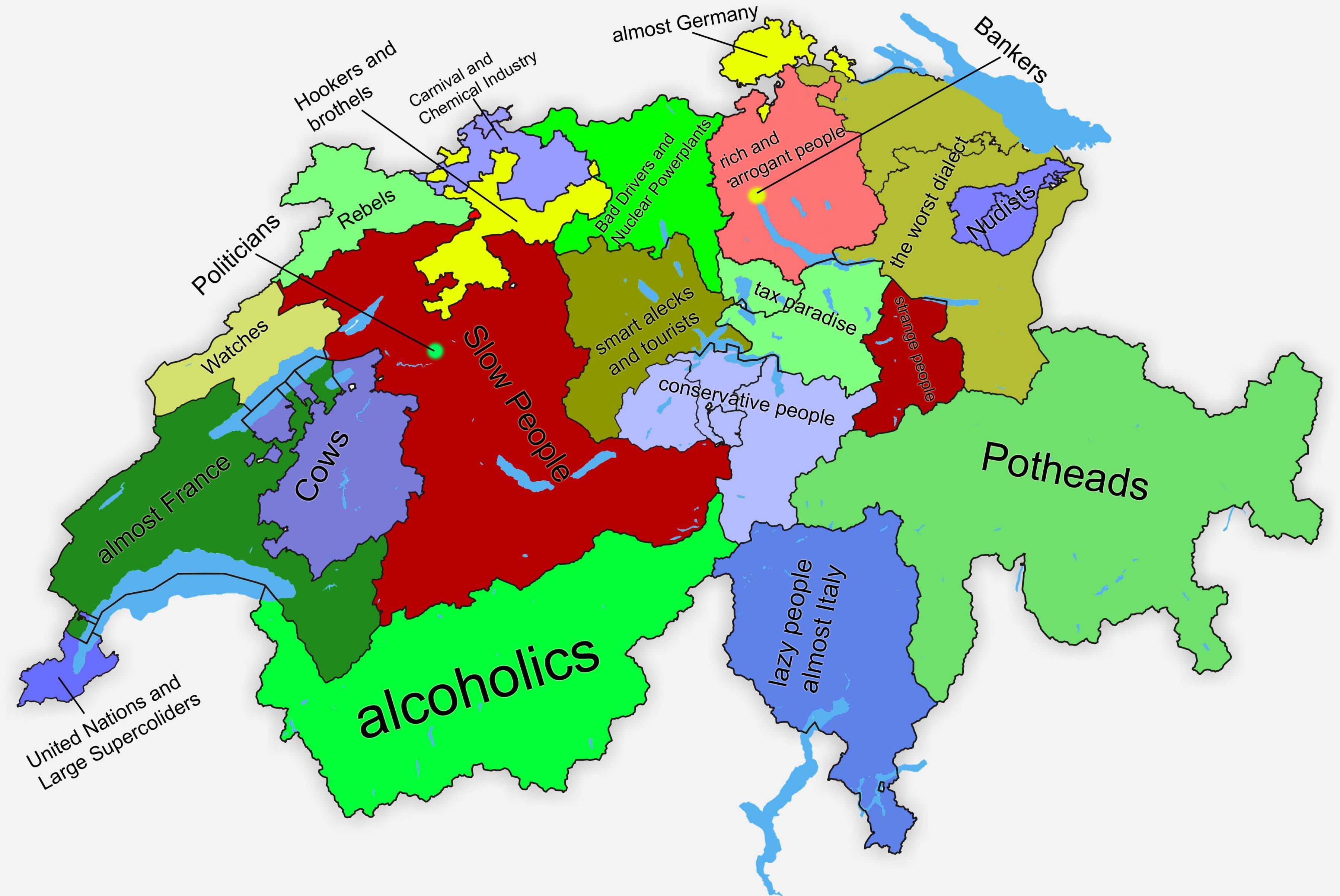 Cantoni Cartina Della Svizzera.Svizzera Canton Mappa Cartina Della Svizzera Canton Europa Occidentale Europa