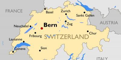 Austria Cartina Turistica.Mappa Turistica Della Svizzera Citta Mappa Della Cartina